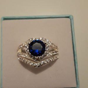 Wedding ring set size 7 brand new